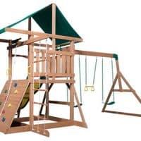 Backyard Discovery Mount McKinley Wooden Swing Set for kids