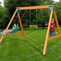 Swing-N-Slide Ranger Wooden Swing Set for kids